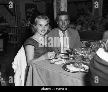 Miss Joyce Jacobsen and Herbert  'Peter' Pulitzer at Nino's in Palm Beach, Florida, ca 1949 - Stock Image