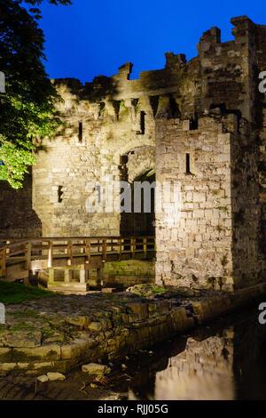 Beaumaris Castle Beaumaris Anglesey Gwynedd Wales at twilight - Stock Image