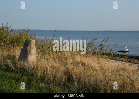 Monolith in southwestern Sejrø - Stock Image