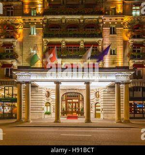 Schweiz, Kanton Waadt, Genfer See, Lausanne, Zentrum, Hotel Lausanne Palace & Spa, Luxushotel - Stock Image