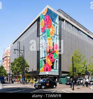 The Debenhams flagship store in Oxford Street, London, England, United Kingdom, Europe - Stock Image