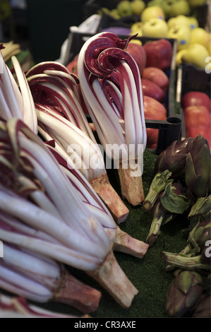Main Food Market Near Rialto Bridge, Venice, Italy - Stock Image