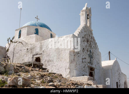 Typical Church Paros Greece - Stock Image