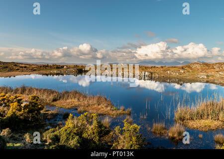 Ireland,  Clifden, Walking, wild area, bogland, - Stock Image