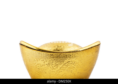 portrait of gold bullion - Stock Image
