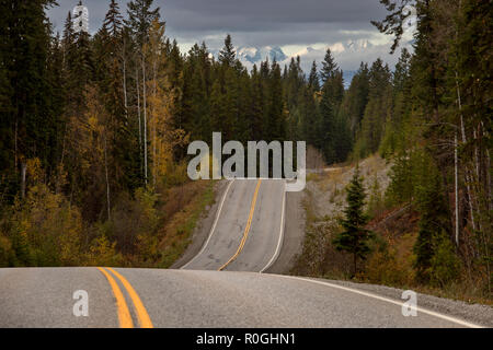 Rocky Mountains Winter Fall Golden BC Canada - Stock Image