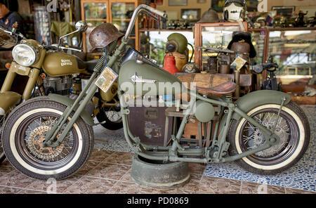 Vintage Harley Davidson motorcycle - Stock Image