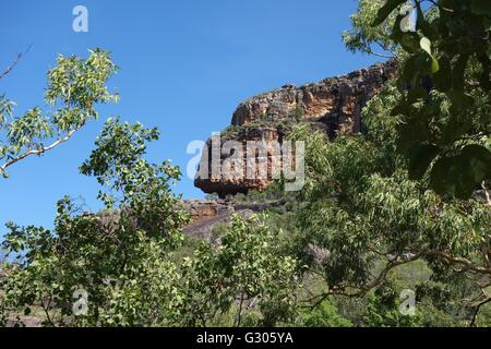 View of Nourlangie Rock (Burrunggui) at Kakadu National Park, Northern Territory, Australia - Stock Image