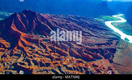 Piebald Badlands, Colorado River, Utah, Ndear Moab - Stock Image