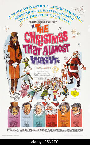THE CHRISTMAS THAT ALMOST WASN'T, (aka IL NATALE CHE QUASI NON FU), US poster art, bottom from left: Rossano - Stock Image