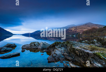 View along Loch Lomond. - Stock Image