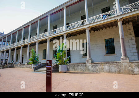 The Mint 19th century building on macquarie street, the former rum hospital and a coining factory,Sydney ,Australia - Stock Image
