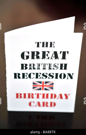 the great british recession birthday card - Stock Image