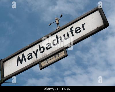 Maybachufer street sign - Stock Image