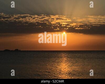 Sunset, Greek Islands - Stock Image