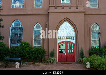 America, South Carolina, Charleston, St. John's Lutheran - Stock Image
