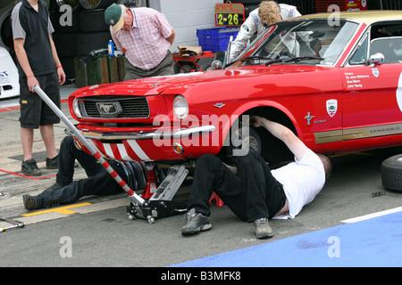 Silverston classic car racing - Stock Image