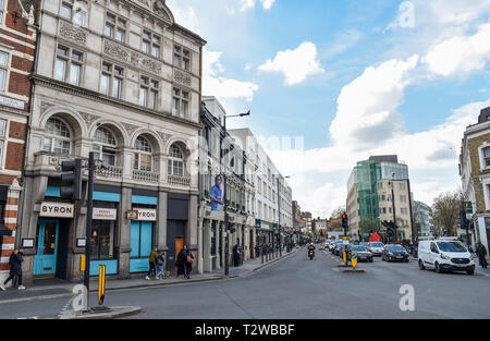 Parsons Green and Fulham London UK - Fulham Broadway - Stock Image