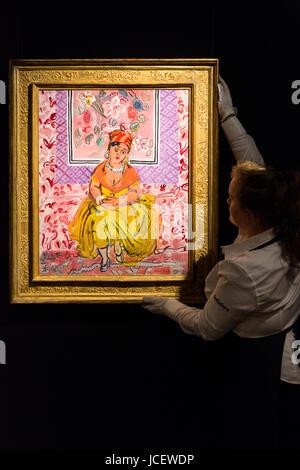 London, UK. 15 June 2017. La Martiniquaise by Raoul Dufy, est. GBP 500,000-700,000. Auction house Sotheby's - Stock Image