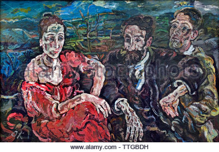 es emigrants (The Immigrants)  by Oskar Kokoschka born 1886 Austria Austrian (expressionistic portraits and landscapes) - Stock Image