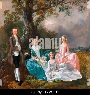 Thomas Gainsborough, The Gravenor Family, portrait, c. 1754 - Stock Image