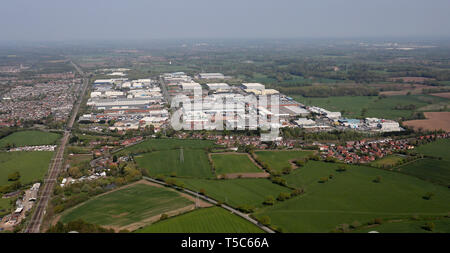 aerial view of Winsford Industrial Estate in Cheshire - Stock Image