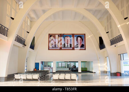 Ticket Office Concourse at Railway Station Phnom Penh Cambodia - Stock Image