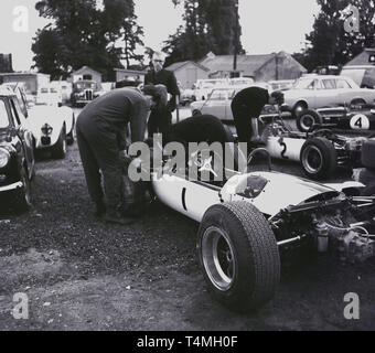 1960s, historical, motor racing at Crystal Palace race circuit in South London, London, England, UK, - Stock Image