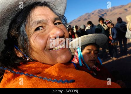 Fiesta Nacional de la Pachamama, Tolar Grande, Province of Salta, Argentina, South America - Stock Image