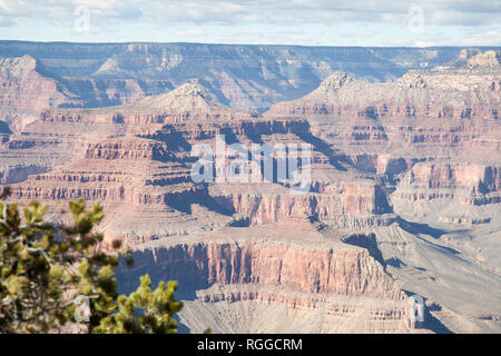 view of the Grand Canyon from The Abyss lookout - Stock Image