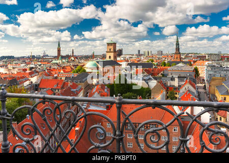 Aerial view of Copenhagen, Denmark - Stock Image