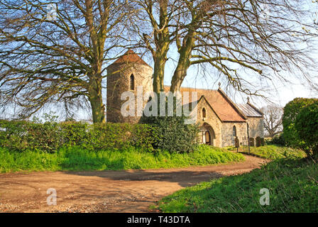 A view of the parish Church of All Saints at Freethorpe, Norfolk, England, United Kingdom, Europe. - Stock Image