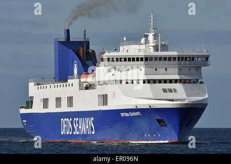 Optima Seaways heading for Kiel comming from Klaipeda - Stock Image