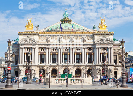 Opera Garnier, Place de l'Opera, Paris, France, Europe - Stock Image