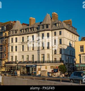 Royal York Mansions,The Parade,Margate,Once the Home of Prince Frederick,Duke of York,Margate,Thanet,Kent,England - Stock Image
