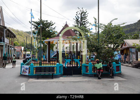 Town square in St Lucia, The Caribbean - Stock Image