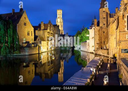 Rosaire Quay, Brugge (Bruges), Western Flanders, Belgium - Stock Image