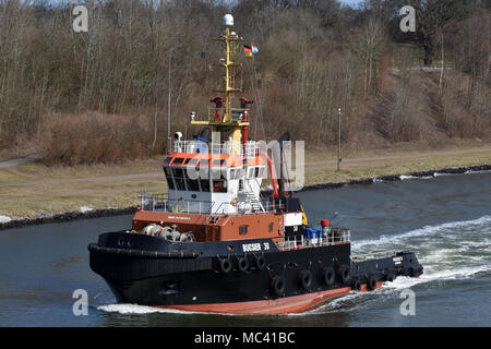 Bugsier 30 in the Kiel Canal - Stock Image