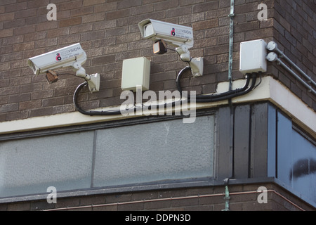 Two 20/20 Vision Security CCTV Cameras with infra red lamps. - Stock Image