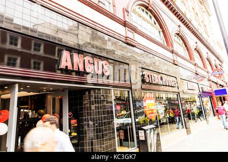 Angus Steakhouse restaurant London UK England, Angus Steakhouse building exterior, Angus Steakhouse London UK, Angus - Stock Image