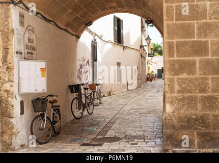Cuitadella, Menorca, Balearic Islands - Stock Image