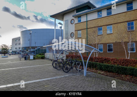 Main Entrance - Broomfield Hospital, Court Road, Broomfield, Chelmsford, Essex, UK - Stock Image