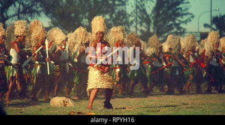 Kailao. Tonga College students performing Kailao dance - Stock Image