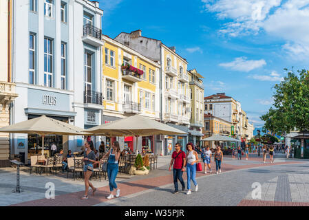 Summer sunny day in the center of Plovdiv city, European capital of culture 2019 - Stock Image