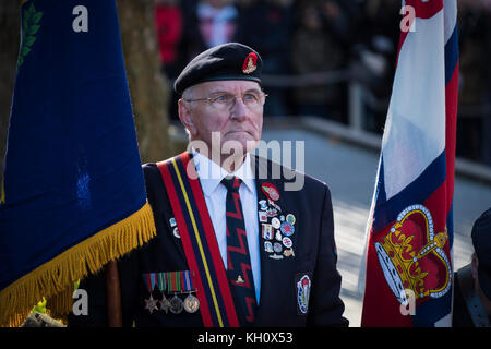 Wolverhampton, West Midlands Sunday 12th November 2017 Member of Far East Proners of War  takes part in Remembrance - Stock Image