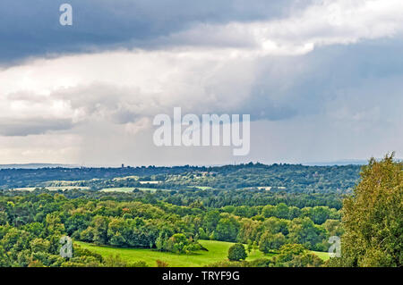 Ashdown Forest (East Sussex, England): View from south - Stock Image