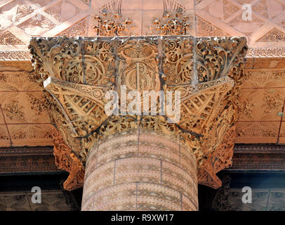 Ornamental Capital of the Guaranty Trust Building by Louis Sullivan and Dankmar Adler, Downtown Buffalo, NY - Stock Image
