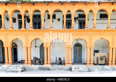 Facade within Chitral fort. - Stock Image