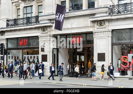 H&M retail store, Regent Street, London, England, UK. - Stock Image