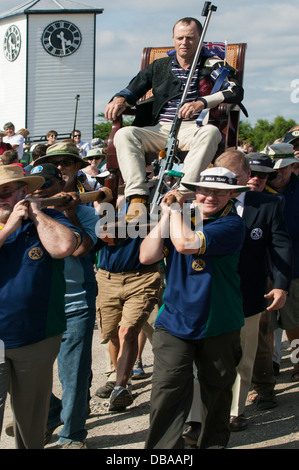 James (Jim) Corbett of Benalla, Australia, wins the 2013 Queens Prize at Bisley, England - Stock Image